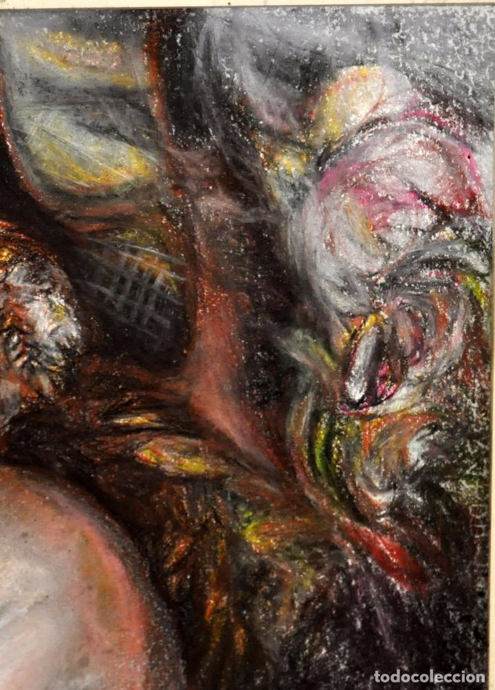 Arte: ESCUELA ESPAÑOLA DE MEDIADOS DEL SIGLO XX. DIBUJO A PASTEL. DESNUDO FEMENINO - Foto 6 - 63179824