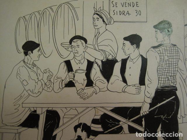Arte: ASTURIAS -DIBUJO A PLUMA ORIGINAL - FERNANDO COLLADO - (V-6768) - Foto 2 - 63329340