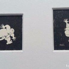 Arte: PAREJA DE DIBUJOS EROTICOS - FIRMADO TORIL . Lote 63562172