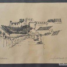 Arte: M. RODRIGUEZ - SALOBREÑA - DIBUJO A TINTA - 1979 - 32 X 22 CM. Lote 63643355