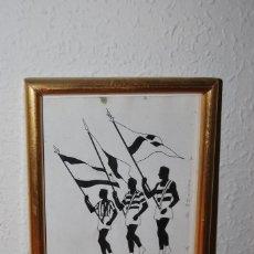 Arte: DIBUJO A TINTA - DESFILE OLÍMPICO - OLIMPIADAS - BOCETO - AÑOS 30-40. Lote 64494499