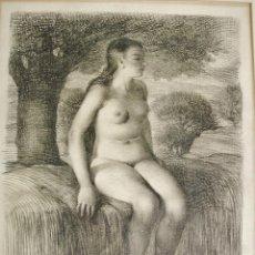 Arte: JOVEN DESNUDA. DIBUJO AL LÁPIZ Y CARBONCILLO SOBRE PAPEL. RAMÓN CALSINA BARÓ (1901-1992). . Lote 64680331