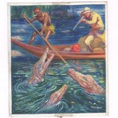 Arte: VÍCTOR AGUADO (BARCELONA 1898-1960) ILUSTRACIÓN ORIGINAL A COLOR SOBRE CARTÓN 20X23CM. 1930'S-40'S.. Lote 65553726