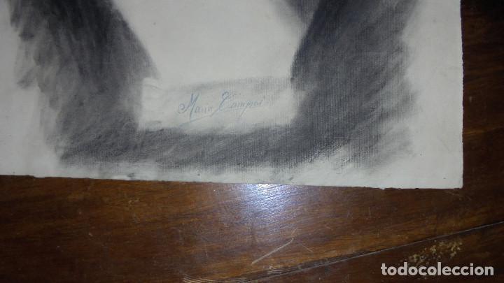 Arte: ANTIGUO DIBUJO CARBONCILLO ACADEMICO BUEN TRAZO, HACIA 1930 , MED. 28X63 CM. BORDES ESTROPEADOS, - Foto 2 - 65905702