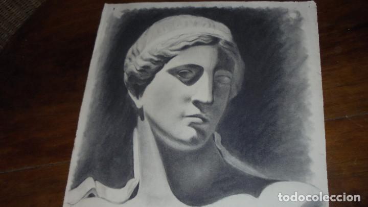 Arte: ANTIGUO DIBUJO CARBONCILLO ACADEMICO BUEN TRAZO, HACIA 1930 , MED. 28X63 CM. BORDES ESTROPEADOS, - Foto 2 - 65905726