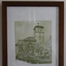 Arte: ALHAMBRA GRANADA: ANTIGUO GRABADO TECNICA AGUATINTA AGUAFUERTE FIRMADO JOSE SALAZAR NUMERADO 34/60. Lote 66309398