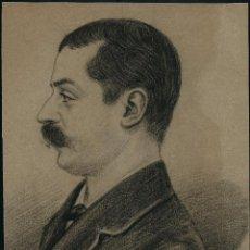 Arte: DIBUJO ORIGINAL. RETRATO. 1882. FDO: A. CESSIER?.. Lote 66832606