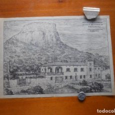Arte: DIBUJO ARQUITECTURA PAPEL CEBOLLA, AÑOS 60, 38 X 26 APROX, BAGUR GIRONA. Lote 66896706