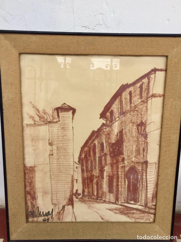 sanguina enmarcada pueblo calle firmada josé ar - Comprar Dibujos ...
