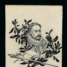 Arte - Dibujo Original. Tinta sobre papel. Cervantes?. Anonimo. - 67387769