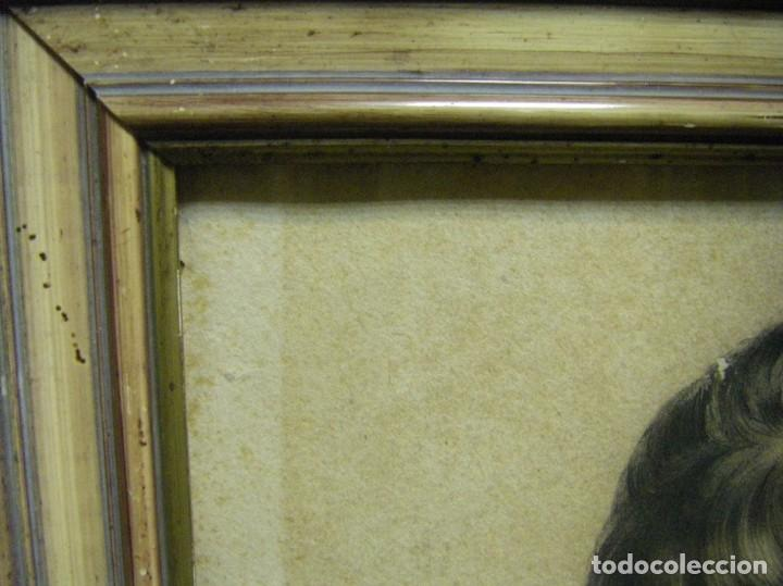 Arte: Dibujo a lápiz y carboncillo del pintor académico Julián Pamplo siglo XIX Valencia - Foto 9 - 68058541
