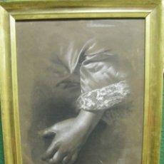 Arte: DIBUJO A LÁPIZ Y CARBONCILLO DEL PINTOR ACADÉMICO JULIÁN PAMPLO SIGLO XIX VALENCIA. Lote 68060581