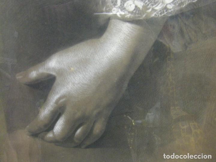 Arte: Dibujo a lápiz y carboncillo del pintor académico Julián Pamplo siglo XIX Valencia - Foto 8 - 68060581