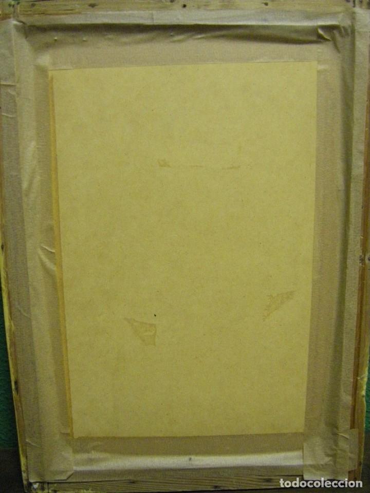 Arte: Dibujo a lápiz y carboncillo del pintor académico Julián Pamplo siglo XIX Valencia - Foto 9 - 68060581