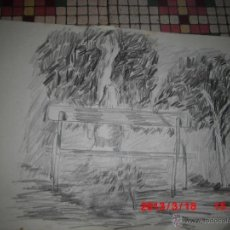 Arte - PEIDRÓ ROSA PINTURA DE ALICANTE DIBUJO MUJER EN PLAZA GABRIEL MIRO ALICANTE CARBONCILLO - 42342709