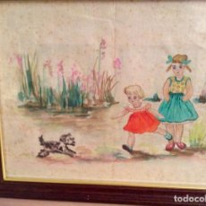Arte: JOSEFINA PRAT DE LA RIBA BCN 1916 DIBUJO A TINTA ORIGINAL 21 X 27,5 CMS.. Lote 68590529