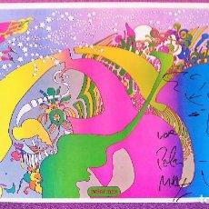 Arte: POSTER Y DIBUJO ORIGINAL A ROTULADOR DE PETER MAX, FIRMADO. Lote 68819253