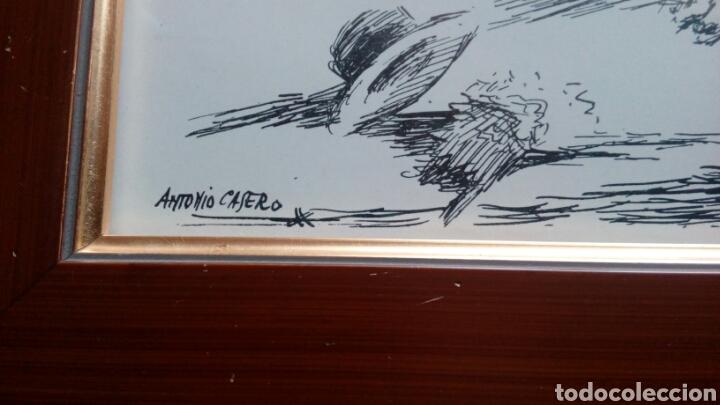 Arte: Pase de toreo, plumilla original de ANTONIO CASERO 17x34 - Foto 2 - 68894042
