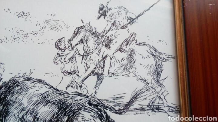 Arte: Pase de toreo, plumilla original de ANTONIO CASERO 17x34 - Foto 3 - 68894042