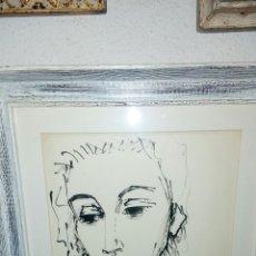 Arte: FIGURA FEMENINA, TINTA DE ISMAEL GONALEZ DE LA SERNA. Lote 68005090