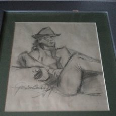 Arte: DIBUJO FIRMADO ILEGIBLE ... GUSTAV C***** .... . Lote 69075981