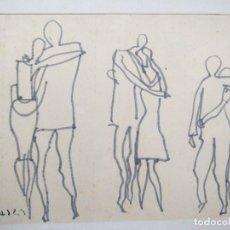 Arte: DIBUJO FIRMADO ILEGIBLE .... C****** ???. Lote 69114569