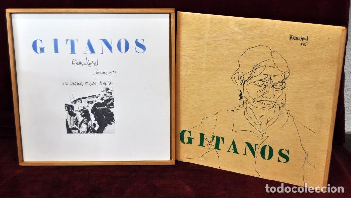 GITANOS (SOMORROSTRO) POR RAMON JESUS VIVES. CAJA CON 16 DIBUJOS ORIGINALES A BOLIGRAFO. AÑO 1973 (Arte - Dibujos - Contemporáneos siglo XX)