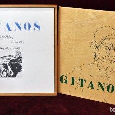Arte: GITANOS (SOMORROSTRO) POR RAMON JESUS VIVES. CAJA CON 16 DIBUJOS ORIGINALES A BOLIGRAFO. AÑO 1973. Lote 69483841