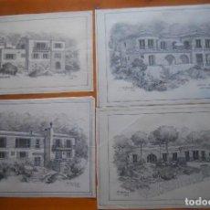 Arte: ARQUITECTURA, DIBUJOS ARQUITECTO FRANCISCO MOLLERA, BAGUR GIRONA. Lote 69668773