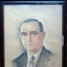 Arte: YVES DIEY, (FRANCIA 1892-1984). *RETRATO* DIBUJO A LÁPIZ GRASO. POSIBLE RETRATO DE JOAN MIRÓ I FERRÀ. Lote 69945305