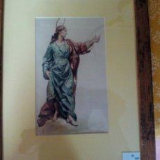 Arte: FELIX YUSTE. DIBUJO/ACUARELA. Lote 61223387