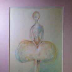 Arte: DIBUJO ORIGINAL TECNICA MIXTA FIRMADO.....CASAS--BAILARINA. Lote 70025137