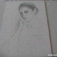 Arte - Relix Revello de Toro dibujo edición facsímil, de la serie 12 rostros de mujer de 2005. 39 x 28 cm - 112507627