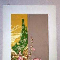 Arte: MODERNISMO - ART NOUVEAU - GOUACHE - 1910'S - A. SCHNIETTINGER. Lote 70450189