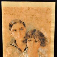 Arte: YVES DIEY (PARÍS, 1892 - 1984) TECNICA MIXTA SOBRE PAPEL FECHADO DEL AÑO 1930. . Lote 70559717