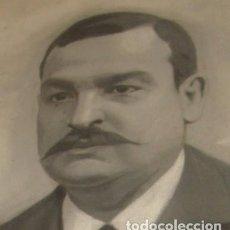 Arte: ANTIGUO RETRATO DE HOMBRE A LÁPIZ. Lote 71038037