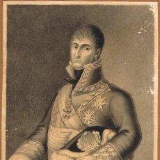 Arte: DIBUJO ANÓNIMO. RETRATO DE ÉPOCA DE FERNANDO VII. LÁPIZ PAPEL. 20X15 CM.. Lote 71694651