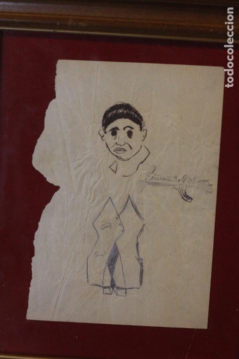 FERNANDO CABRERA, DIBUJO ORIGINAL, ENMARCADO. (Arte - Dibujos - Contemporáneos siglo XX)