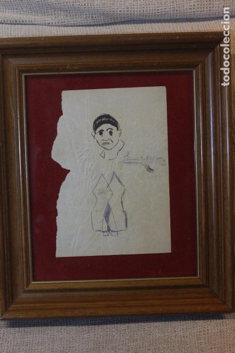 Arte: Fernando Cabrera, dibujo original, enmarcado. - Foto 3 - 72155431