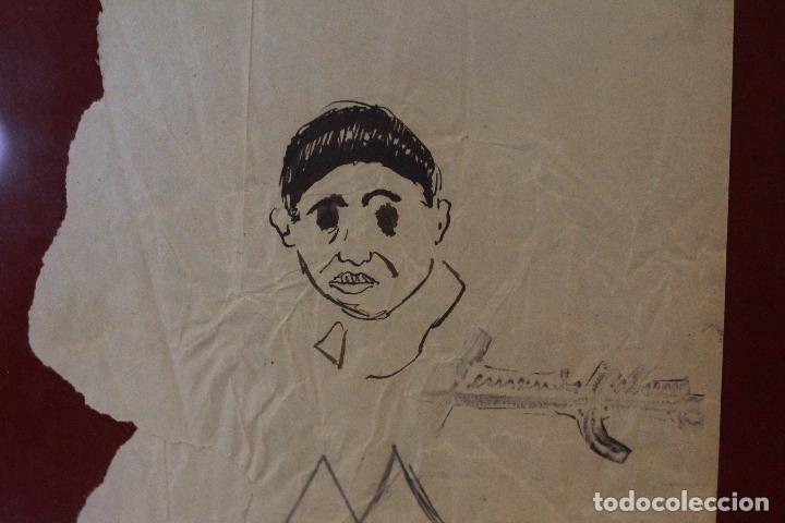 Arte: Fernando Cabrera, dibujo original, enmarcado. - Foto 4 - 72155431