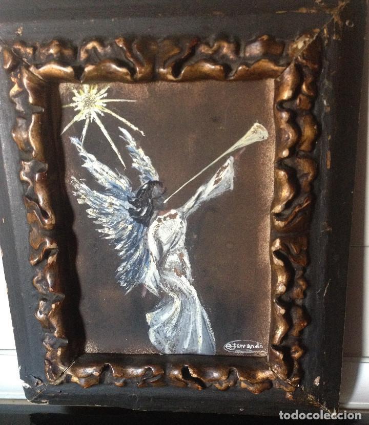 marco de madera oscuro y pan de oro muy antiguo - Comprar Dibujos ...
