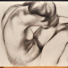 Arte: JOSE LUIS FUENTETAJA (MADRID, 1951) DIBUJO A CARBON. DESNUDO FEMENINO. Lote 72755895