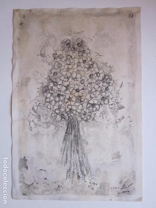 ANTIGUO DIBUJO O LITOGRAFIA A ESTUDIAR, FIRMADA PEYROT (Arte - Dibujos - Contemporáneos siglo XX)