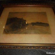 Arte: FÈLIX URGELLÈS - 1845-1919 . ANTIGUO DIBUJO AL CARBON PAISAJE - ENMARCADO DE EPOCA . Lote 73179455