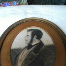 Arte: DIBUJO ORIGINAL A CARBONCILLO. FIRMADO MANTONI ? CODRRCH. 1850. 15 X 20 CM. MARCO ANTIGUO METÁLICO.. Lote 73660714
