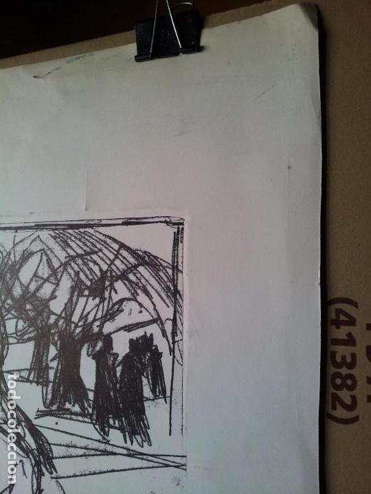 Arte: DIBUJO TECNICA MIXTA SOBRE CALCO..ESCUELA CATALANA 1966 FIRMA A ESCUDRIÑAR..INTERESANTE !!! - Foto 14 - 74077907