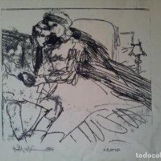 Arte: DIBUJO TECNICA MIXTA SOBRE CALCO..ESCUELA CATALANA 1966 FIRMA A ESCUDRIÑAR..INTERESANTE !!! BUENA M. Lote 74078327