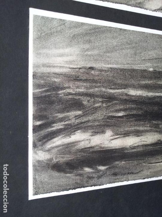 Arte: DIBUJO TECNICA CARBONCILLO..ESCUELA CATALANA AÑOS 60-70 FIRMA A ESCUDRIÑAR..INTERESANTE !!! - Foto 2 - 74079383