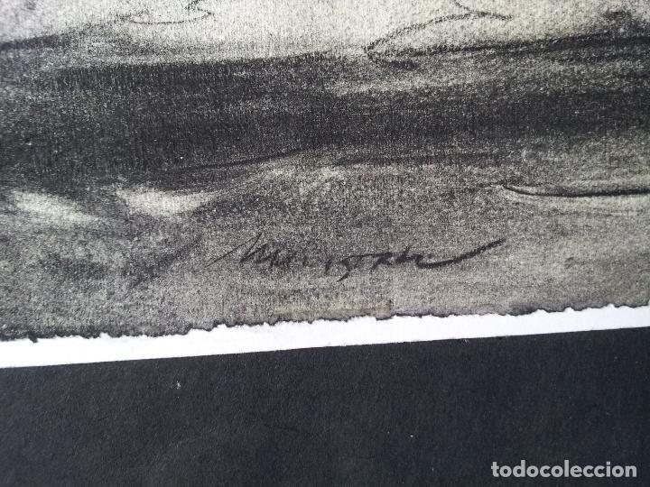 Arte: DIBUJO TECNICA CARBONCILLO..ESCUELA CATALANA AÑOS 60-70 FIRMA A ESCUDRIÑAR..INTERESANTE !!! - Foto 11 - 74079383