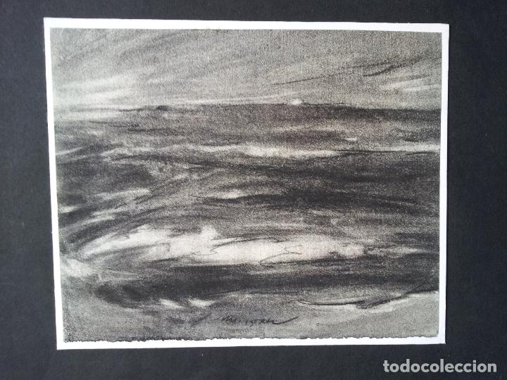 Arte: DIBUJO TECNICA CARBONCILLO..ESCUELA CATALANA AÑOS 60-70 FIRMA A ESCUDRIÑAR..INTERESANTE !!! - Foto 12 - 74079383